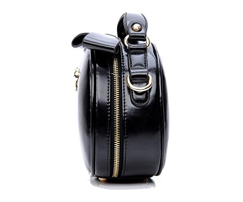 Retro Rotonda Mini Pacchetto Borse Moda Diagonale Spalla Messenger Black