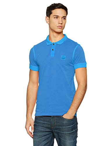BOSS Orange Herren Poloshirt 10122648 01, Blau (Bright Blue 435), Large (Herstellergröße:...