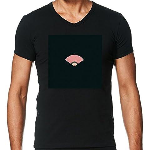 Camiseta V Cuello para Hombre - Ventilador Asiático by ilovecotton