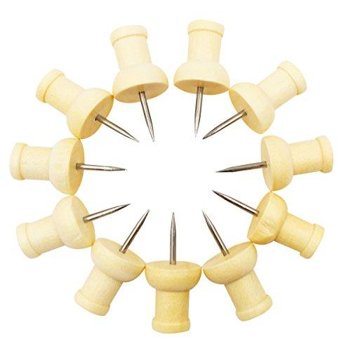 Wood Push Pins, Ulable 250 Pcs Wooden Thumb Tacks DIY Toys for Map, Photos and Calendar
