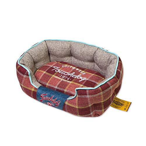 FJH Haustier Nest Vier Jahreszeiten Universal kleine und mittlere Hund Teddy Hundehütte Hundebett Hund Haus Mat (größe : M) -