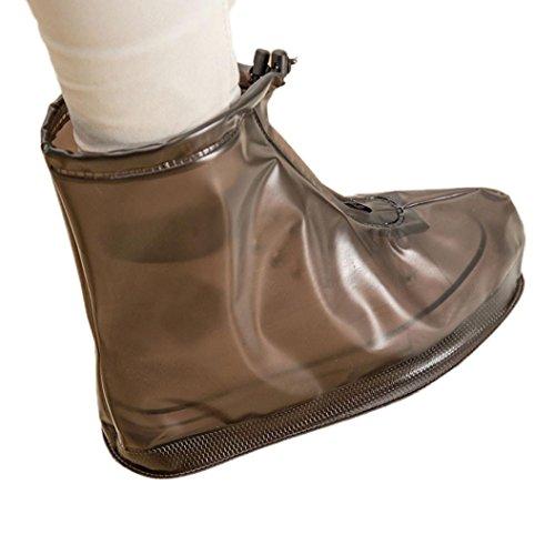 JIANGFU Neutral Schuh Regen abreibbare,Unisex Wasserdichte Regenschuhe Wiederverwendbare Stiefel Rutschfest (44, Co) (Casual Schuh-komfort Arbeiten Kleid)