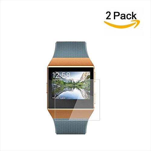 Fitbit Ionic Bildschirmschutzfolie (2er-Pack), XIHAMA LiquidSkin Full Coverage Bildschirmschutzfolie für Fitbit Ionic Smartwatch HD Durchsichtig, einfache Installation, Anti-Bubble-Folie