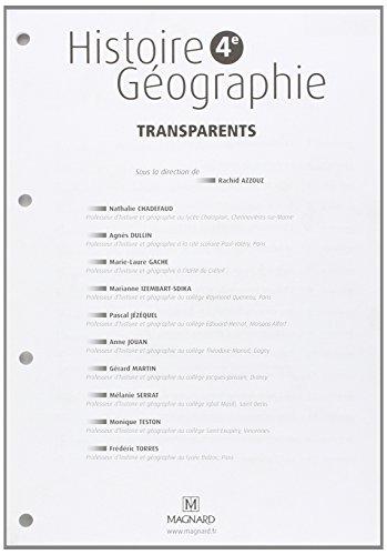 Classeur 4e Transparents Histoire Geographie