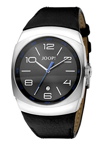 Joop Gents 3Hd Men's Quartz Watch with Grey Dial Analogue Display and Brown Leather Strap JP100681F04