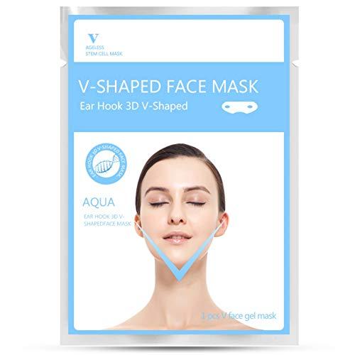 V Mascarilla gel facial Mascara doble oreja colgada