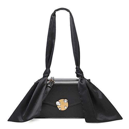 Zhong$chuang Damen Medium Multi-Pocket-Mode Umhängetasche Umhängetasche Damenmode Umhängetasche (Color : Black)