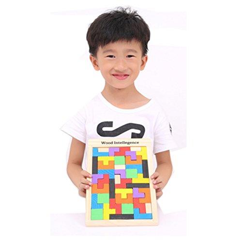 Holzfarben frühe pädagogische Flexible Lustige Combined Block-Spielwaren