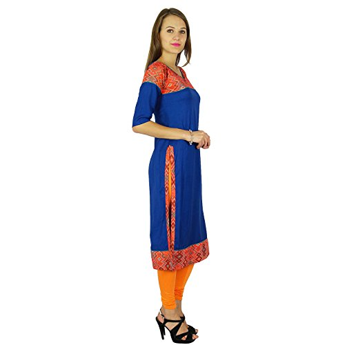 designer Phagun Bollywood kurta femmes robe casual kurti Bleu Royal Et Rouge