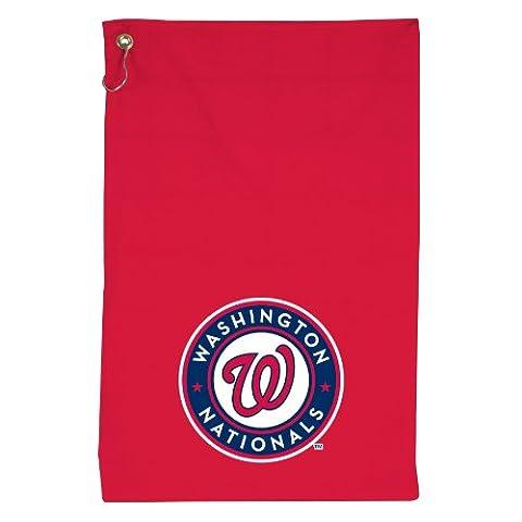 MLB Nationals de Washington blindé Serviette de golf de W/Crochet