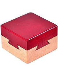 Juguetes Creativos, Zantec Caja secreta de madera Caja de regalo creativa para joyería escondida en efectivo Sorpresa en efectivo para acompañantes Amantes Amigos