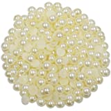 AsianHobbyCrafts Half Round Pearl Beads (8mm, 100g)