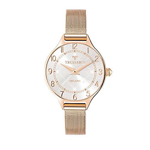 TRUSSARDI Reloj Analógico para Mujer de Cuarzo con Correa en Acero Inoxidable R2453122503