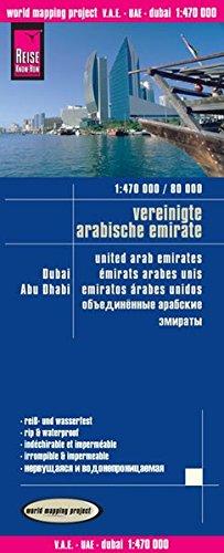 Preisvergleich Produktbild Reise Know-How Landkarte V.A.E., Dubai, Abu Dhabi (1:470.000 / 80.000): world mapping project