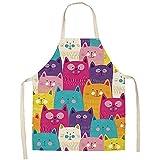 ShopINess Delantales Gato (Gatos colorados, 68x55 cm)