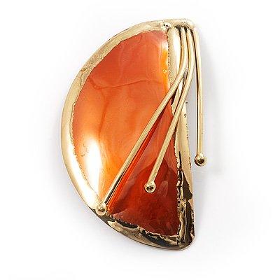crescent-moon-spilla-stile-etnico-colore-arancione