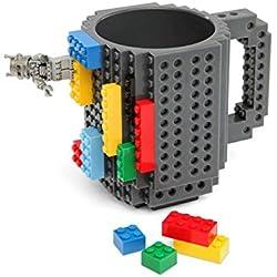 Creativa Build-a-ladrillo-Taza gris