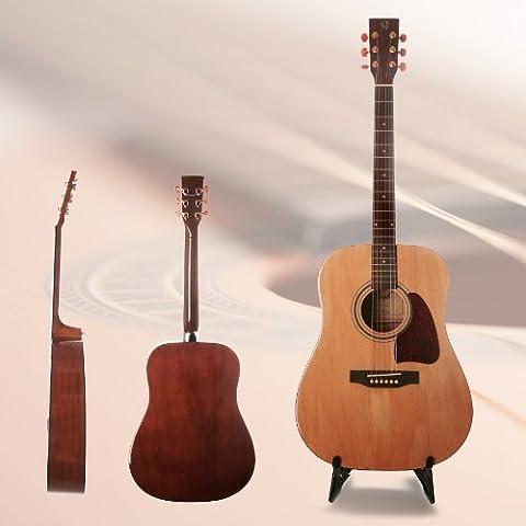 CollectorGuitar CD50N - Akustikgitarre/Westerngitarre mit Stahlsaiten Dreadnought Fichtendecke (Yamaha Akustik-gitarren Saiten)
