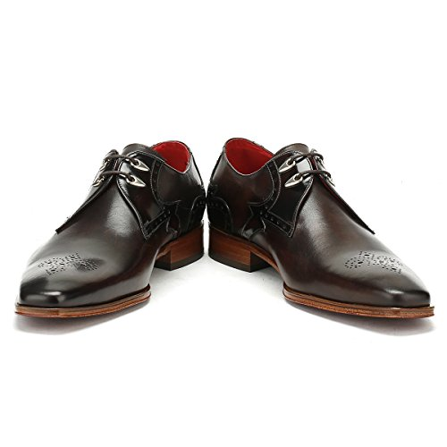 Jeffery West Uomo Dark Marrone Sciarpaace Brogue Toledo Scarpe Dark Marrone