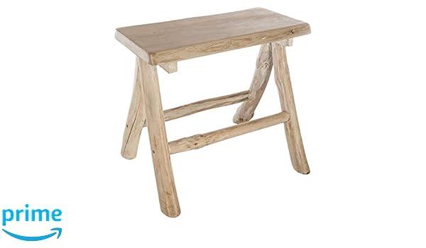 Atmosphera sgabello robusto in legno di rovere dalla seduta ampia