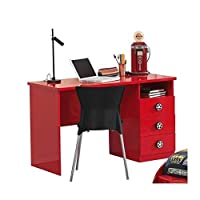 Vipack Bunk sc865bur Monza desk MDF Red 219x 95x 60cm