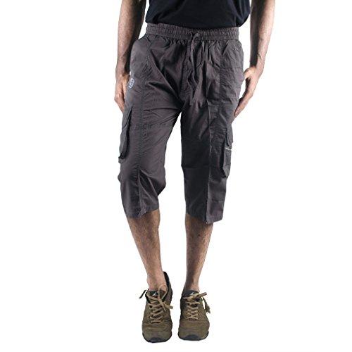 0-Degree-Shorts-3by4-knee-length-Three-Fourth-Capri-Men-Chinos-Classic-Cotton-Bermuda-DarkGrey-30-3by4ClassicSoloDarkGrey