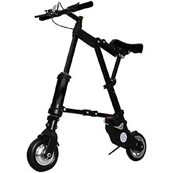 A-bike Bicicleta Plegable para Electric, Black, M: Amazon.es ...