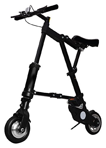 A Bike bicicletta pieghevole Electric, Black, M