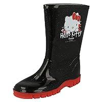 Girls Wellington Boots Hello Kitty - Black - UK Size 12 - EU Size 31
