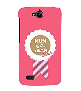 FUSON Mummy Of Year Decade 3D Hard Polycarbonate Designer Back Case Cover for Huawei Honor Holly
