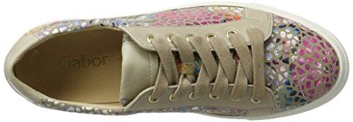 Gabor Shoes Fashion, Scarpe da Ginnastica Basse Donna Beige (Silk/Nude 42)