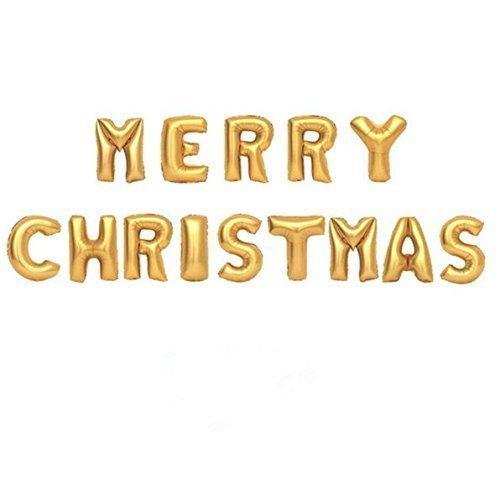 UChic 1 Satz / 14 stück Gold 16 zoll Frohe Weihnachten Buchstaben Aluminiumfolie Ballons Weihnachten Dekorative Ballon Für Partydekorationen (Riesen Lutscher Dekorationen)