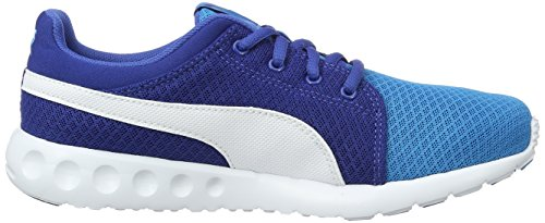 Puma Carson Runner 400 Mesh Jr, Sneakers Basses Mixte Enfant Bleu (Blue Danube-puma White 02)