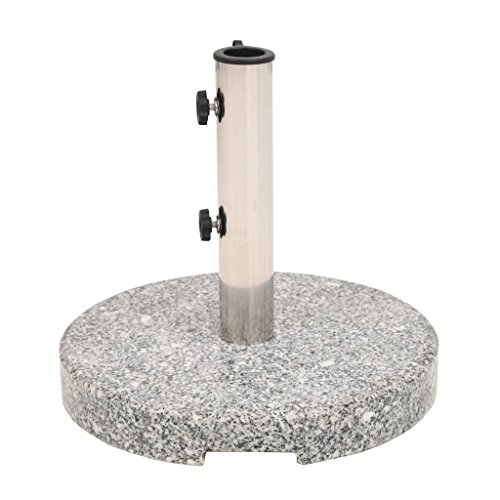 Tidyard Pieds de Parasol | Socle de Parasol | Base de Parasol Rond en Granit 25kg
