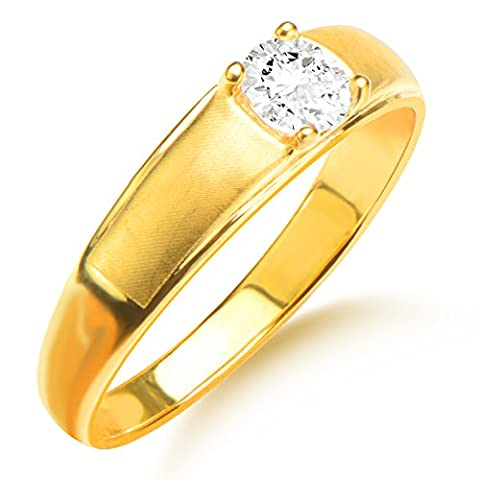 Gold Rhinestone Ring Men/Women Gift 18k Gold Plated Simulated Diamond Classic Gold Wedding Bands Rings Jewelry R70096
