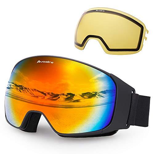 Avoalre Gafas esquí Gafas esquí antiniebla Snowboard