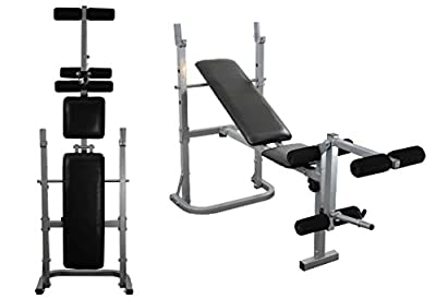 Weight Training Bench Adjustable Multi Gym Folding Fitness Bench With Leg Extension from UK Fitness