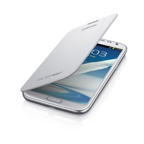 AE MOBILE ACCESSORIES Original Samsung Galaxy Note 2 II N7100 Flip Cover Case With NFC/ Marble White (EFC-1J9FWEG)