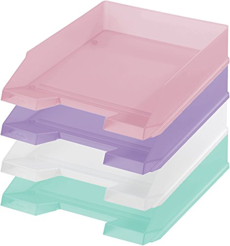 4x Herlitz Ablagekorb / Briefkorb / Briefablage / 4 verschiedene Farben -