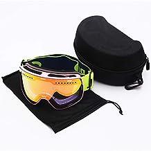 JT Gafas De Esquí para Adultos Hombres Y Mujeres Doble Anti Niebla Deportes Al Aire Libre