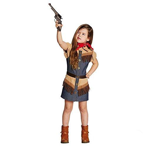 Halloween Cowgirl Kind Kostüm (Kinder Kostüm Cowboy Girl Cowgirl Karneval Fasching Größe)