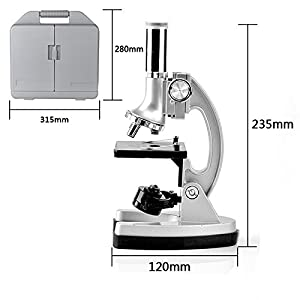 SOLOMARK Moutec Kids Educational Microscope Set, 300 x 600x 1200x Magnifications, Includes 70pcs+ Accessories and Handy Storage Case- With Smartphone Adapter