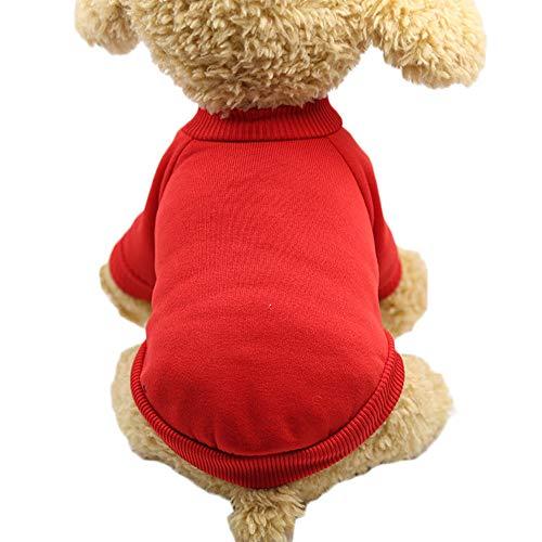 (GUANLIAN Hundewelpen Cat Sweater Warme Kleidung Mäntel Bekleidung Small Medium Dog Jumper Sweater Strickwaren)