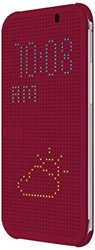 HTC 99H11642-00 Dot View Schutzhülle für HTC One E8 - Violett (One Dot Case View Htc M8)