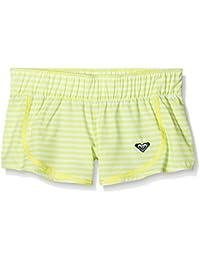 Roxy Dotty Stripy BS G BDSH BDF6 - Traje de baño para niña, Color Blanco, Talla 14/XL