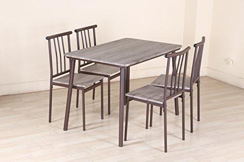 herr ironstone 5 pcs esszimmer set fr hst ck mittag set tisch und st hle metall essgruppen. Black Bedroom Furniture Sets. Home Design Ideas