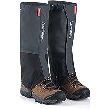Naturehike al aire libre montaña nieve Legging polainas, impermeable y a prueba de viento zapatos cubierta, para senderismo, esquí, senderismo, escalada, caza, Gris - L
