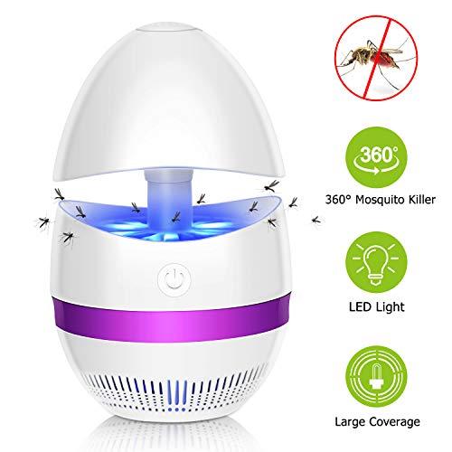 Sunnest Anti-Moustique Lampe (Version améliorée) LED, Piège à Mouche électrique, Tueur de Moustiques, Efficace Portée 10-50M², Destructeur Insecte, Non Toxique pour Maison, Jardin, Bureau, Camping