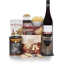 Der Gentleman der Lebensmittel- & Weinkörbe - Herren Präsent- & Geschenkkörbe Für Ihn - Wein, Pastete, süße und herzhafte Geschenkkörbe