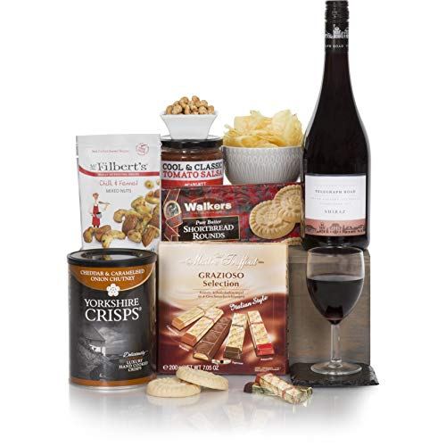 Red Wine Hamper For Him - The Perfect Gift Hamper - Men's Hampers & Gift Baskets For Him - Hamper For A Man